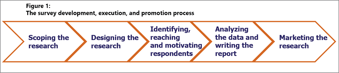 Survey development, execution, and promotion process